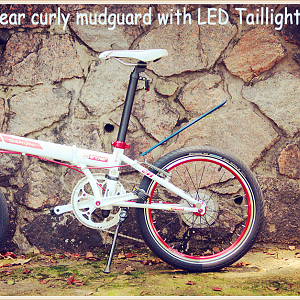 2017 Mountain Bike Mudguards with LED Tail Light