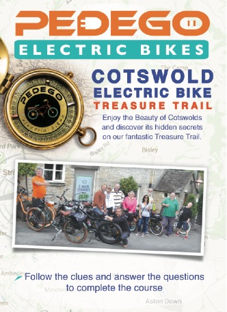 Cotswolds electric bikes treasure trail leaflet
