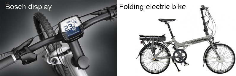 Bosch display and folding e-bike