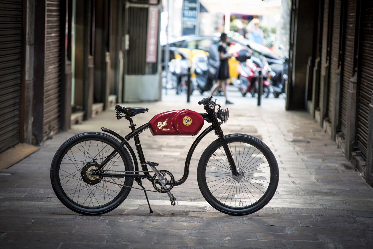 Inspired By The 1950s Cafe Racer Motorbikes New 27kg 250w RaceR Model Can Be Customized And Accessorized Otocycles Home Of Retro Electric Bikes In