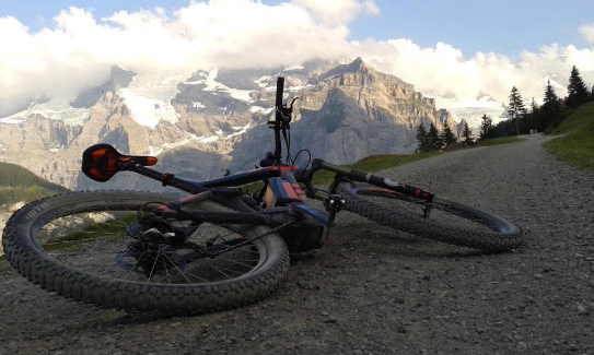 Electric mountain biking in Swiss Alps