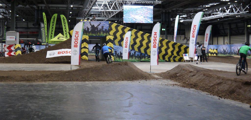 Bosch-sponsored e-MTB indoor test track